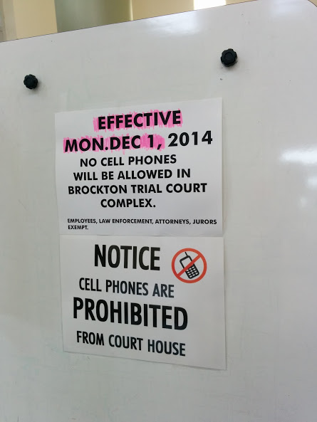 no cell phone in court